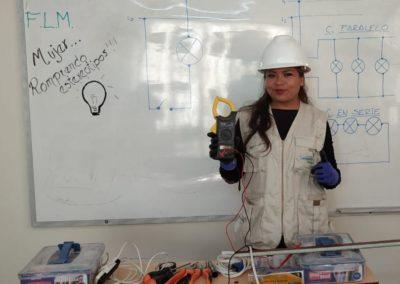 Bolivia (7) – Opleiding tot elektricien om verlichting aan te leggen – geadopteerd door medewerkers gemeente Hellevoetsluis, bij afscheid B. Bruinsma en P. Uilenberg