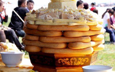 Collecte voor brood in Mongolië