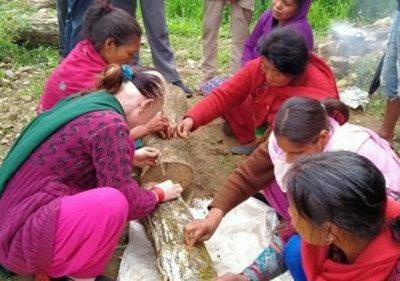 Nepal (01) – Shiitaketeelt voor gehandicapten – gereserveerd voor sponsoring via de Challenge Tour du Mont Blanc